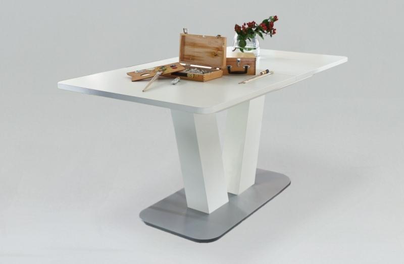 niehoff esstisch ausziehbar 160 210 x 90 cm 5133 wei lackier. Black Bedroom Furniture Sets. Home Design Ideas