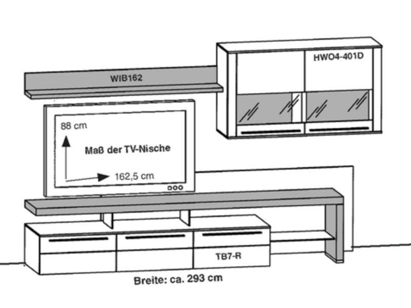 Gwinner Programm Bellano Wohnwandkombination Be26 Be26 Sv