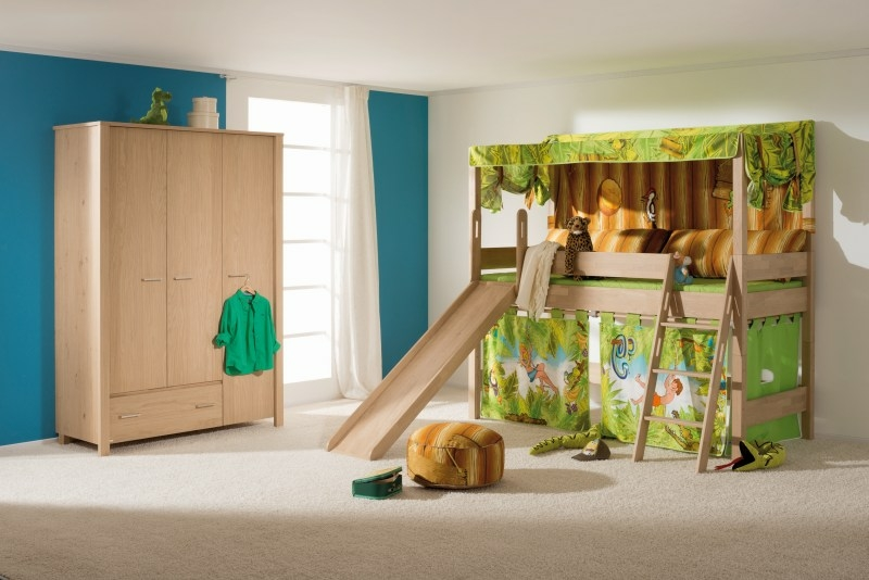 paidi vorhang set f r spielbett 125 pfostenh he 90x200 cm. Black Bedroom Furniture Sets. Home Design Ideas