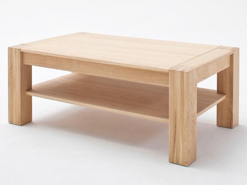 Mca Furniture Bologna Couchtisch T65 Eiche Bianco Teilmassiv
