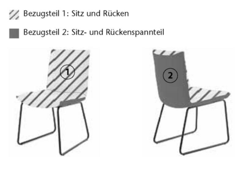 Koinor Stuhl Sitz u. Rücken innen Leder, Sitz u. Rücken außen Leder, Metallkufe schwarz matt 1211