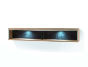 MCA Furniture Espero Wandregal 184 cm breit mit LED Band...