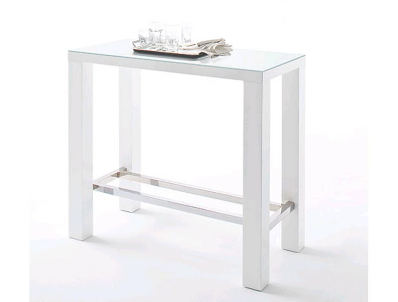 Mca furniture bartisch jam hochglanz weiss lackiert platte for Hochglanz platte wei