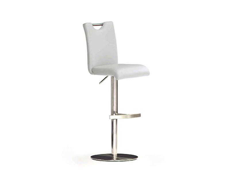Mca furniture barstuhl barhocker bardo bodenplatte rund for Barhocker echtleder edelstahl