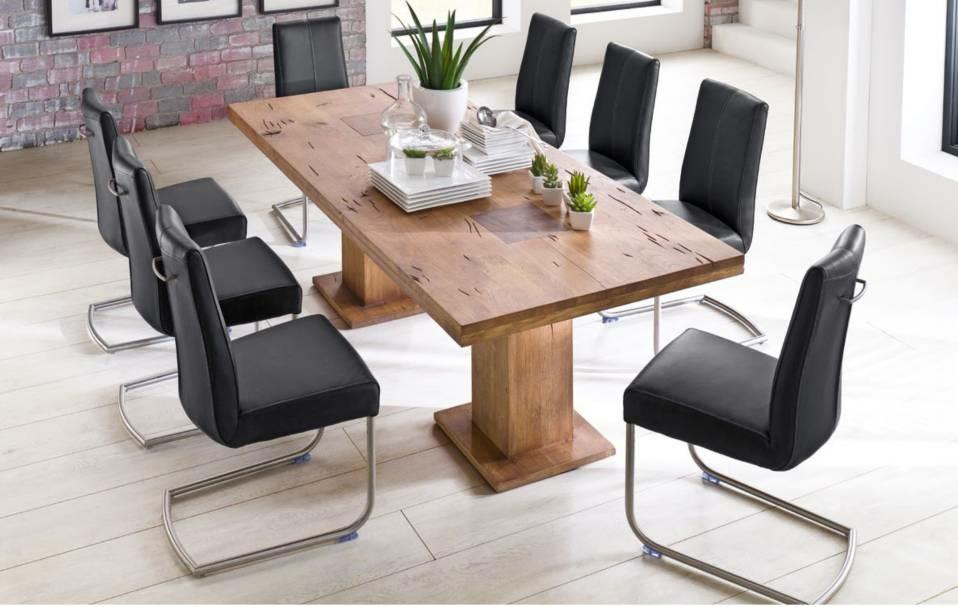 Mca furniture esstisch s ulentisch manchester eiche massiv for Mca esstisch