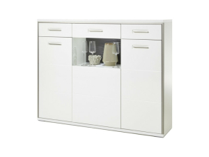 MCA Furniture Trento Highboard mit LED Beleuchtung...