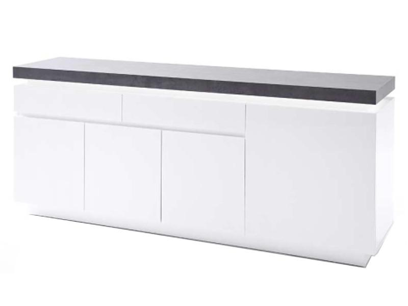 Mca Furniture Sideboard Atlanta Matt Weiss Lackiert Mit Beton Dekor
