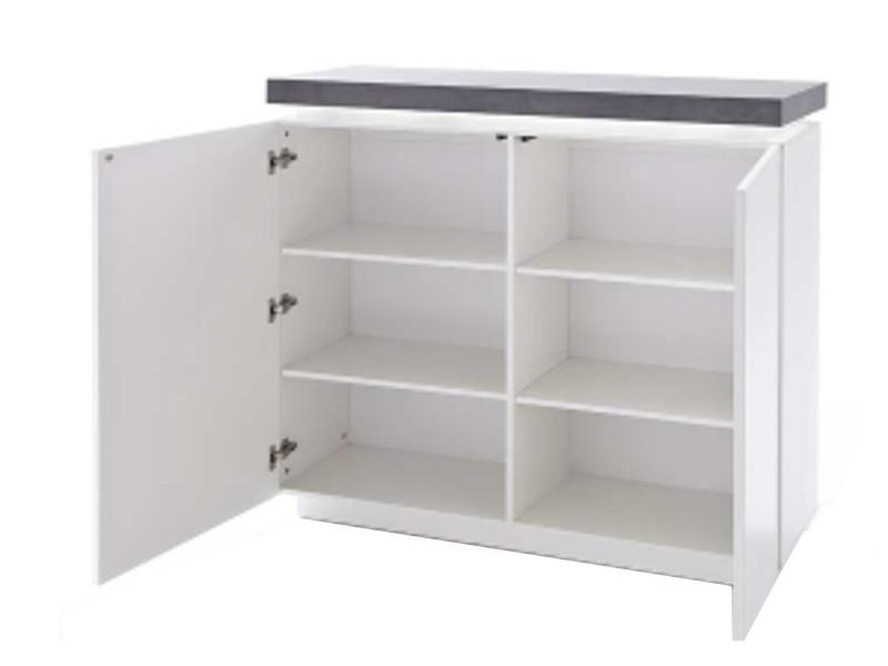 Mca Furniture Kommode Atlanta Matt Weiss Lackiert Mit Beton Deko