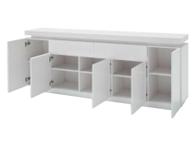 Mca Furniture Tv Sideboard Ocean Hochglanz Weiss Lackiert Inkl Led